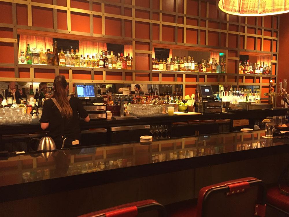 The bar at Urban Farmer.