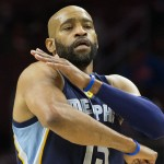 Vince Carter and the Memphis Grizzlies defeated the Sixers 104-90 Tuesday night | Bill Streicher-USA TODAY Sports