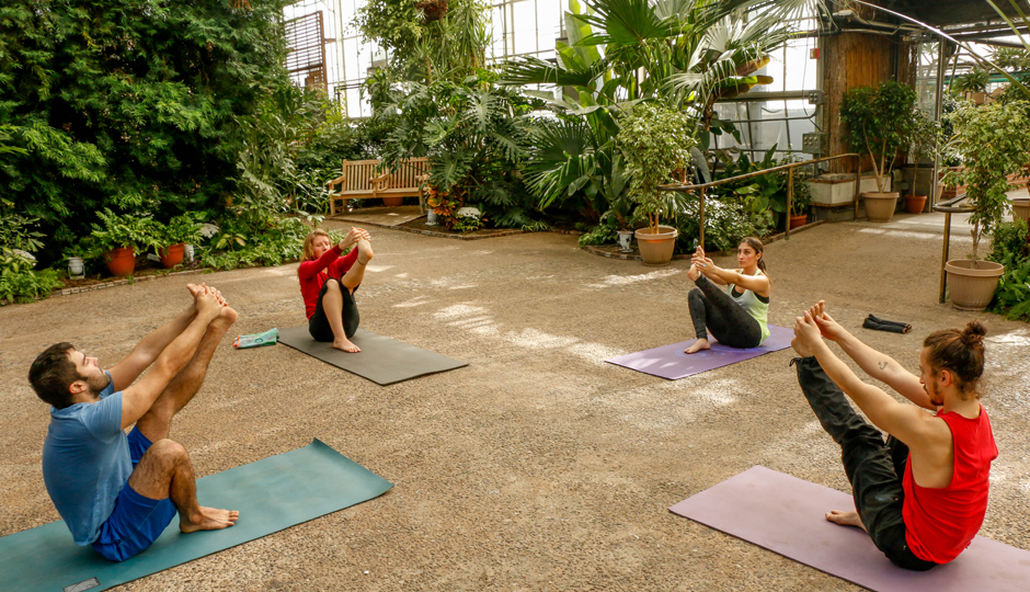Yoga at the Horticulture Center | Casey Kallen Photography