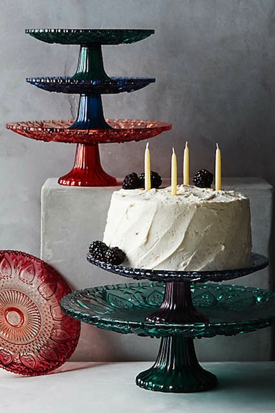 Anthropologie has so many stands to choose from, but we love these colorful glass ones.