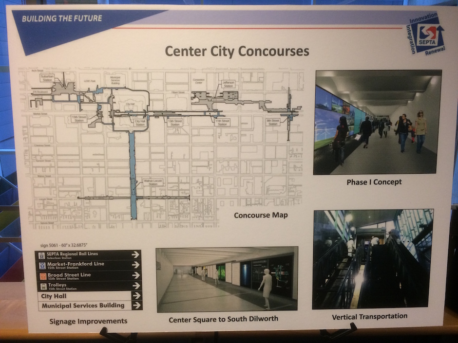 poster showing concourse work