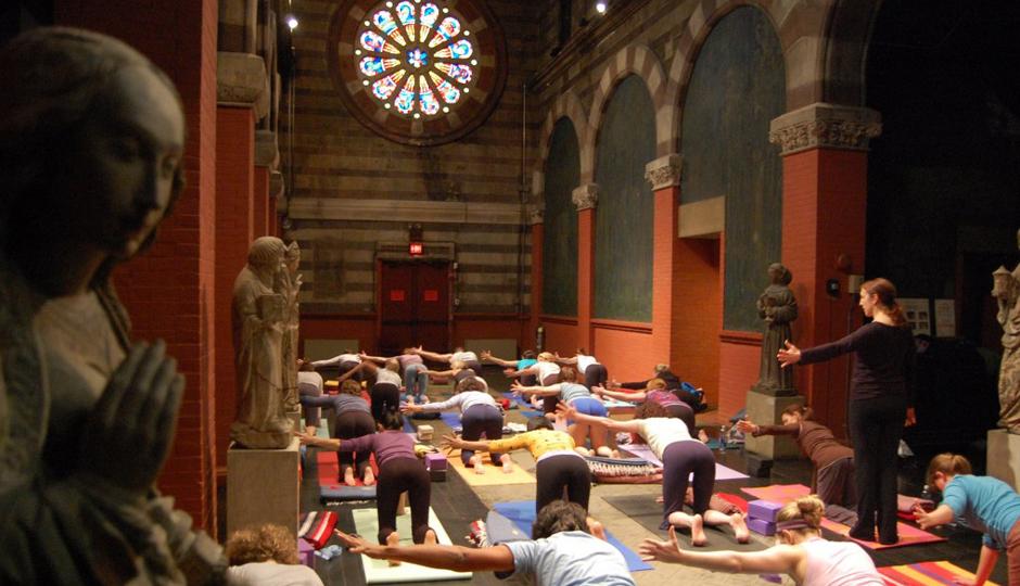 Yoga at the Sanctuary at Fleisher Art Memorial