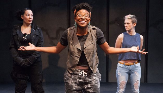 Anita Holland, Brett Ashley Robinson, and Mary Tuomanen in #therevolution. (Photo by Kathryn Raines / Plate3)