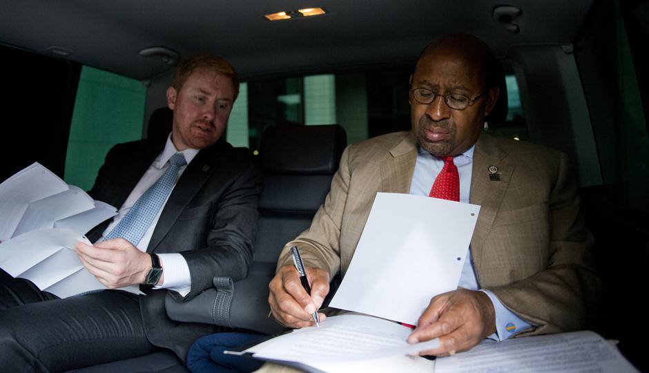 Luke Butler with Mayor Michael Nutter.