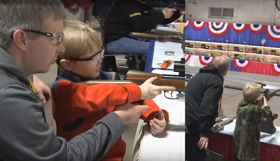 Comcast has asked that these images of children holding guns be removed from a TV commercial for the Great American Outdoor Show.