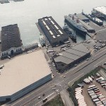 A construction worker died last night after falling off Pier 78 (left) in South Philadelphia. | Photo via Wikimapia