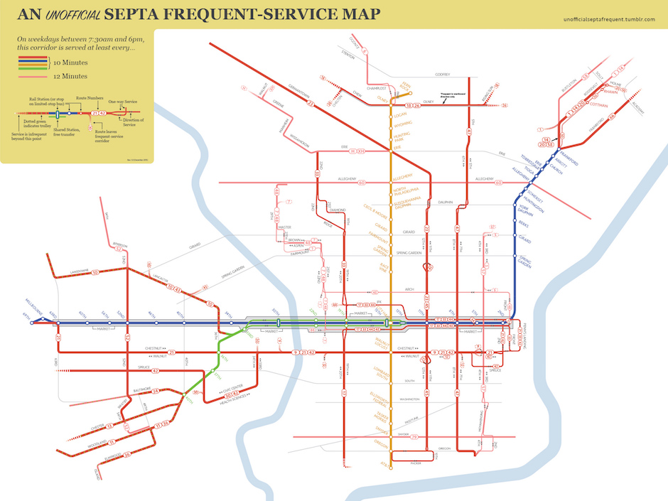 This Unofficial SEPTA Map Highlights What Riders Really Care About - Philly septa map