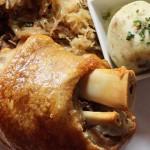 Schweinshaxe Roasted Pork Shank at Brauhaus Schmitz