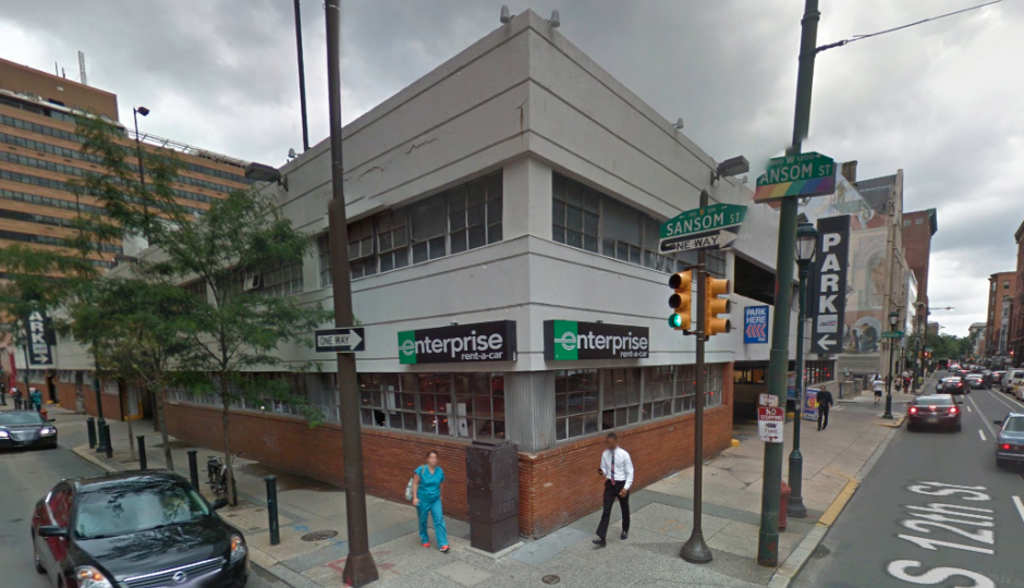 The garage at 12th and Sansom | Google Street View
