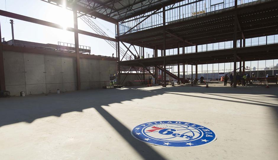 Sixers Camden facility.