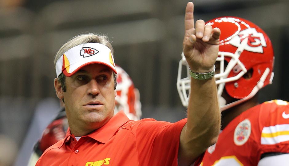 Kansas City Chiefs offensive coordinator Doug Pederson before their game against the New Orleans Saints at the Mercedes-Benz Superdome. Photo | Chuck Cook-USA TODAY Sports