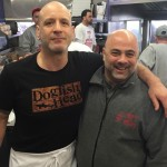 Marc Vetri with Frank Olivieri at Pat's Steaks