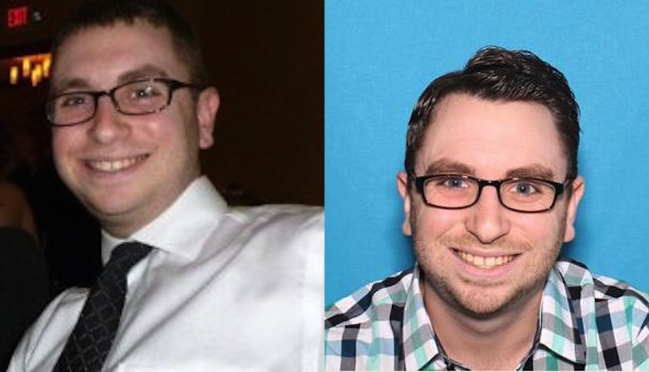 Left: Andrew Kutinsky in his LinkedIn profile / Right: A photo provided by the Montgomery County District Attorney.