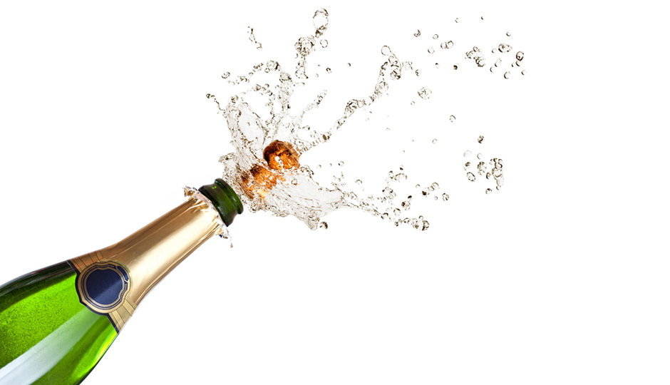 A bottle of champagne inside 2