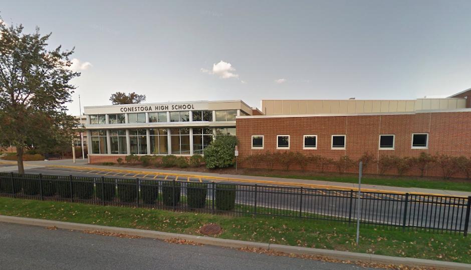 Conestoga High School in the Tredyffrin-Easttown School District   Google Street View