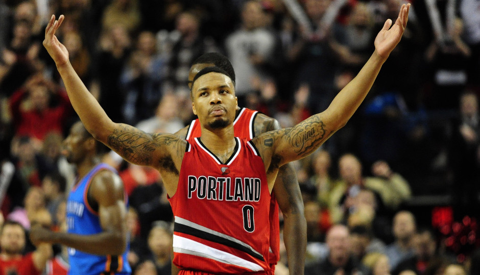 Blazers point guard Damian Lillard is averaging 31.3 points per game over the Blazers' last four games | Steve Dykes-USA TODAY Sports