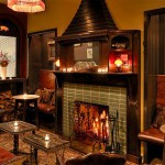 Fireplace at the Dandelion | Photo by Starr Restaurants