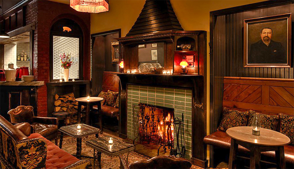 Bars and Restaurants with Fireplaces