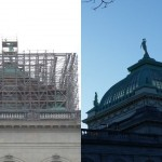 Memorial Hall dome before and after