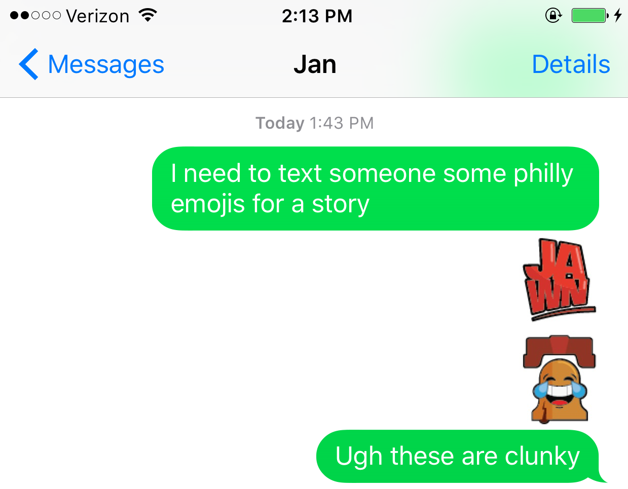 Philly emojis - example