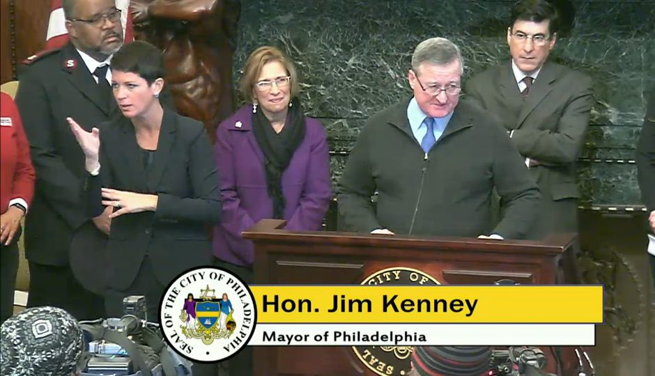 Mayor Jim Kenney - snow press conference - Philadelphia