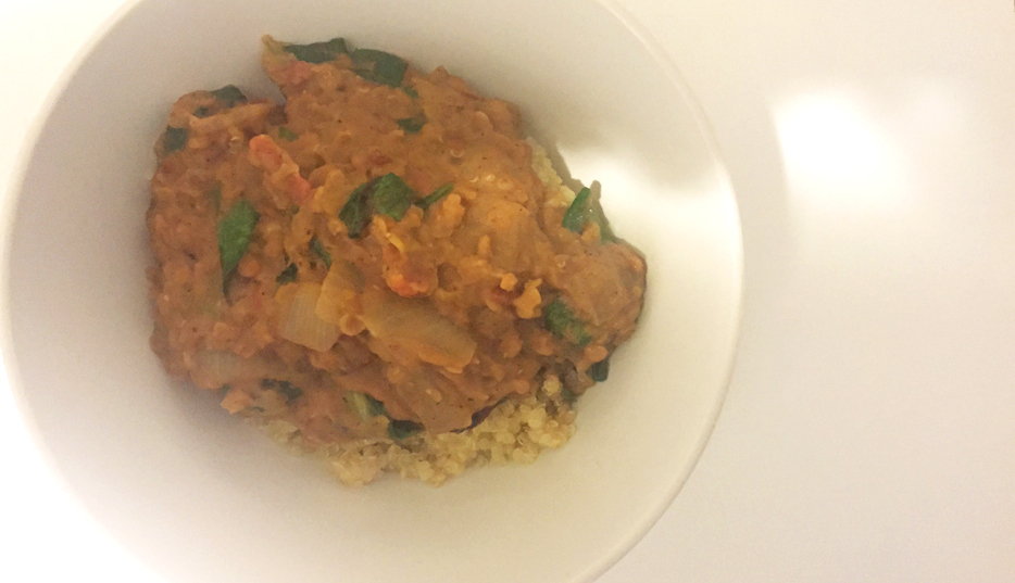Red Lentil Spinach Masala | Note: Sometimes the ugliest foods are the most delicious
