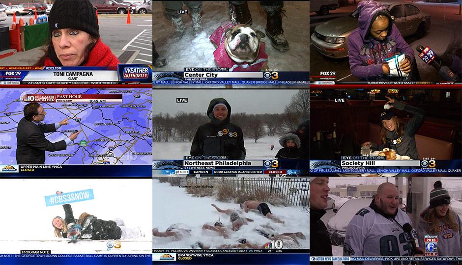 Philadelphia local news during Winter Storm Jonas