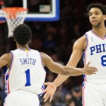 Jahlil Okafor (25 points) and Ish Smith (16) were instrumental in the Sixers 114-89 win over the Portland Trailblazers | Bill Streicher-USA TODAY Sports