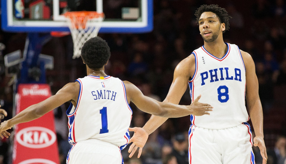 Jahlil Okafor (25 points) and Ish Smith (16) were instrumental in the Sixers 114-89 win over the Portland Trailblazers   Bill Streicher-USA TODAY Sports