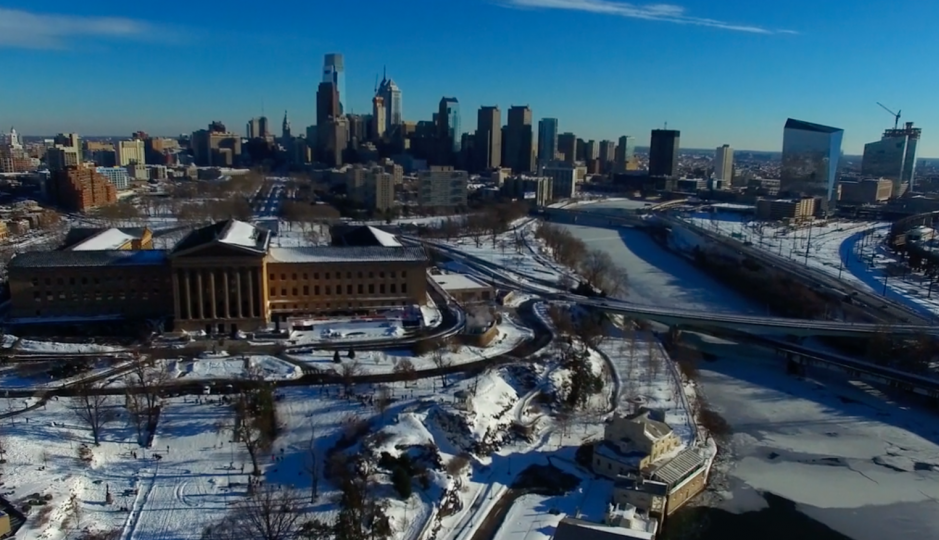 Philadelphia, post Winter Storm Jonas | Image: Matt Satell, Philly By Air