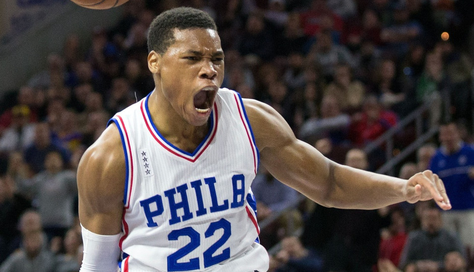 Richaun Holmes celebrates a dunk during the Sixers' 109-99 victory over the Minnesota Timberwolves | Bill Streicher-USA TODAY Sports