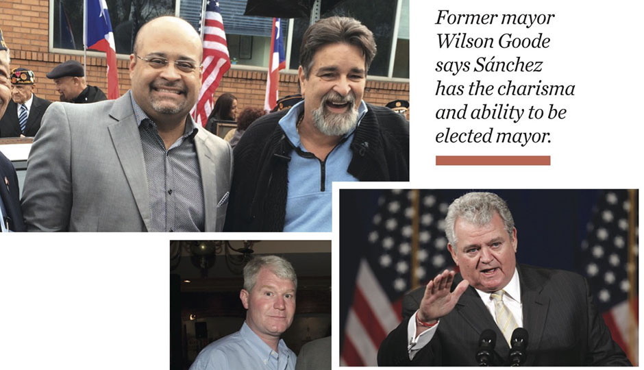 Sánchez's enemies list (clockwise from top left): Angel Cruz and Carlos Matos; Bob Brady; John Dougherty. (Photos: Phillyrecord.com; Matt Rourke/Associated Press; Jessica Hawkes Webster)