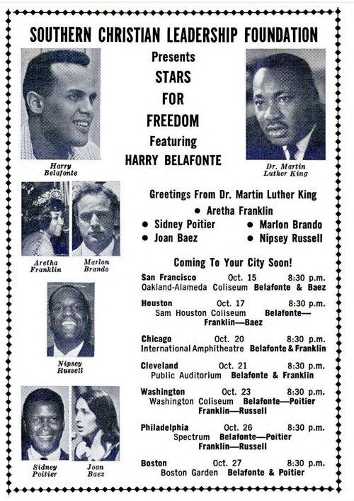 Stars for Freedom concert - Harry Belafonte - Martin Luther King - Jet magazine