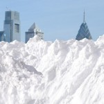 Snow - Philly skyline - Artist's conception