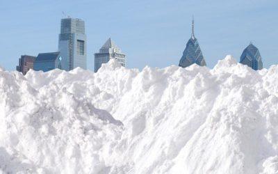Snow - Philly skyline - Artist's conception