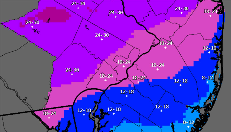 Snowfall forecast - National Weather Service