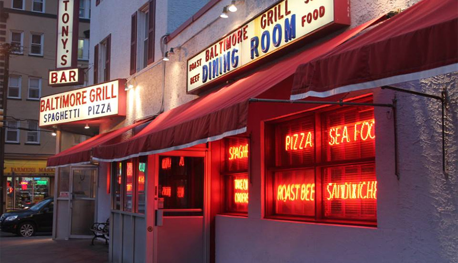 Tony's Baltimore Grill has filed for bankruptcy protection but remains open.