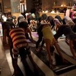 Candlelight sunrise yoga at Lululemon | Photo by Susan Nam