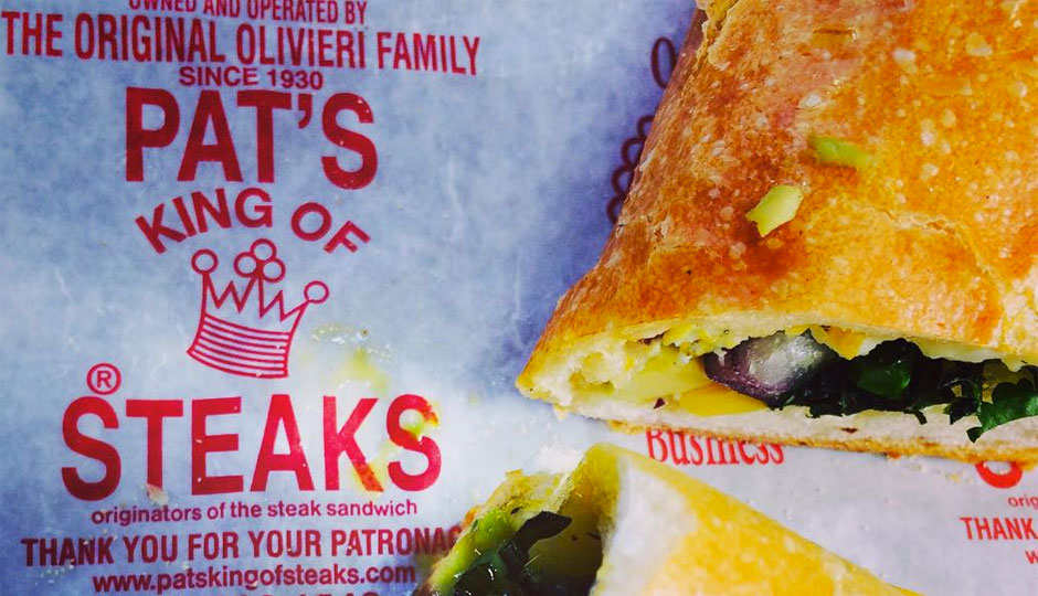 Yes, Pat's Steaks is offering a vegetarian cheesesteak.