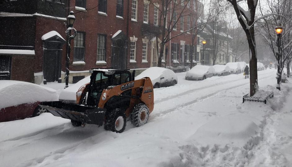 Washington Square West - Philadelphia - snow - 2016