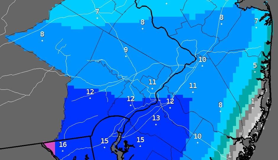 NWS - snowfall prediction