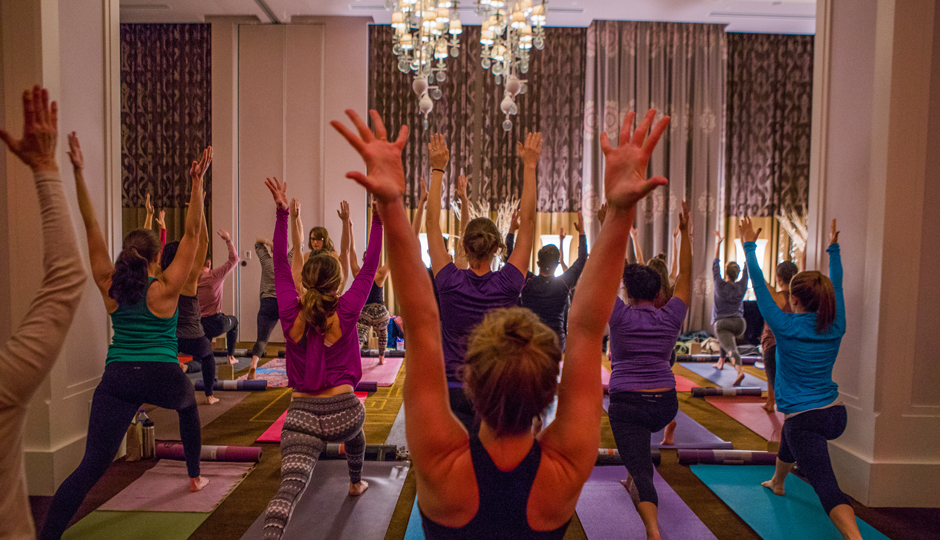 Yoga with Three Queens Yoga at Hotel Monaco | Photo by Joe Longo