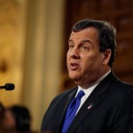 New Jersey Gov. Chris Christie delivers his budget at the Statehouse, Tuesday, February 16, 2016, in Trenton, N.J. Tuesday's budget address comes nearly a week after Christie ended his bid for the Republican presidential nomination.