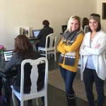 Stephanie Gambescia Seal and Tina Nerelli of Bizzy Mamas show off their new co-working space in Ardmore.
