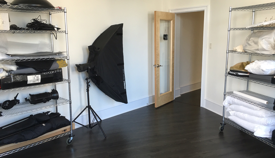 The photography/art studio.