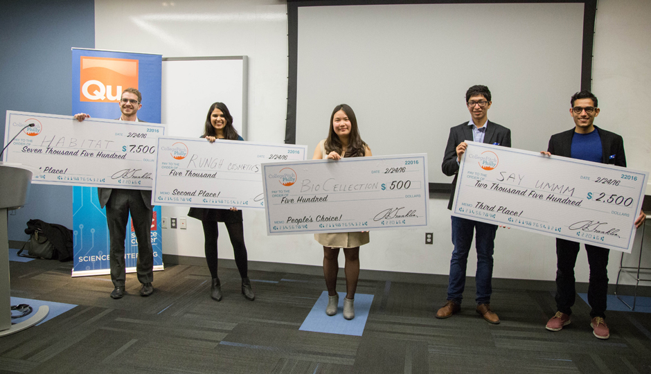 Winners of the College Pitch Philly contest.