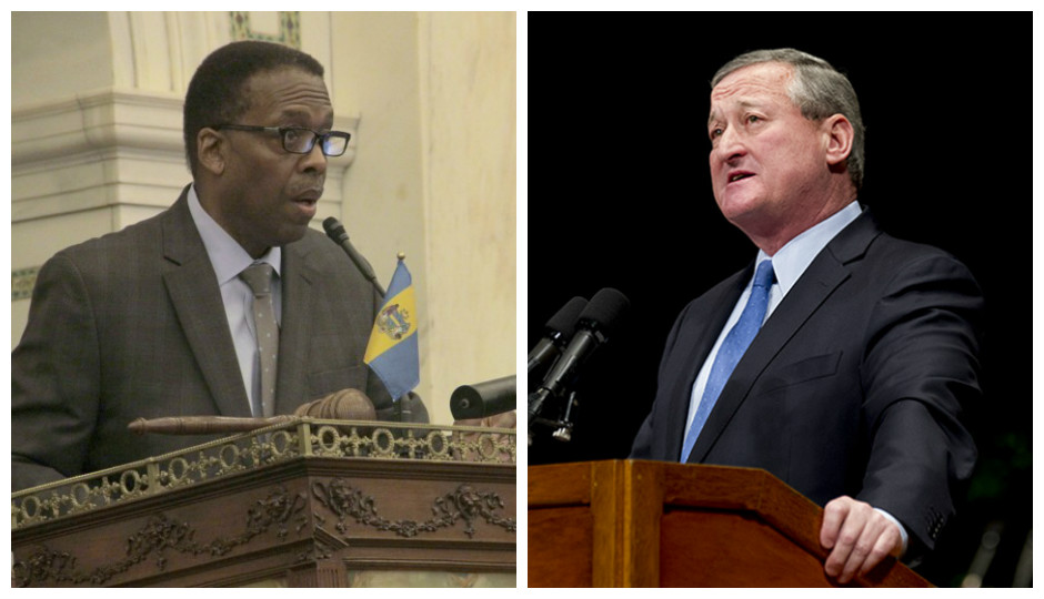 L to R: Darrell Clarke and Jim Kenney