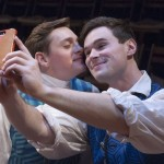 Actors David Reese Hutchison (L) and Kevin Murray (R) play lovers in the new production. Photographed by John Flak, courtesy of Mauckingbird Theatre Company.