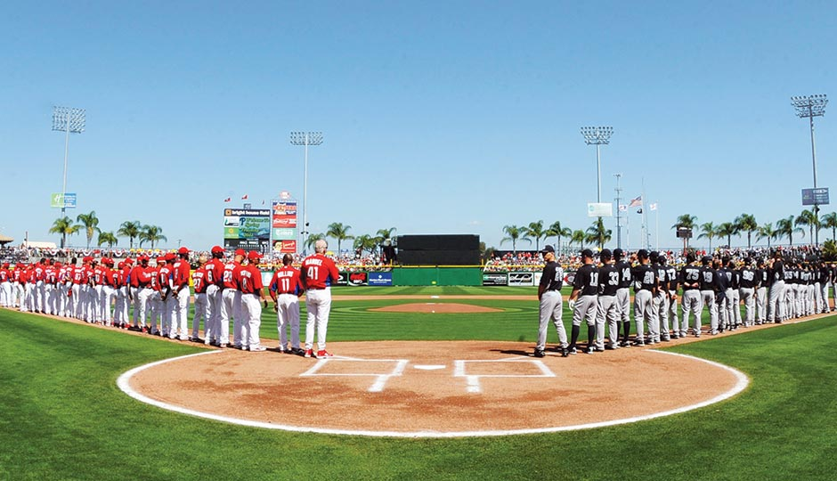 Phillies spring training at Bright House Field. Photograph by Getty Images.