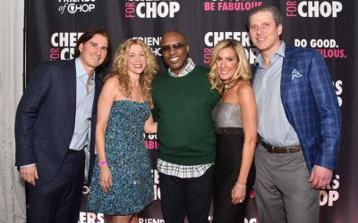 Co-chairs Jon and Jen Rodack and Allison and Jon Lubert with DJ Jazzy Jeff, the headline entertainment at the 3rd Annual Cheers for CHOP.